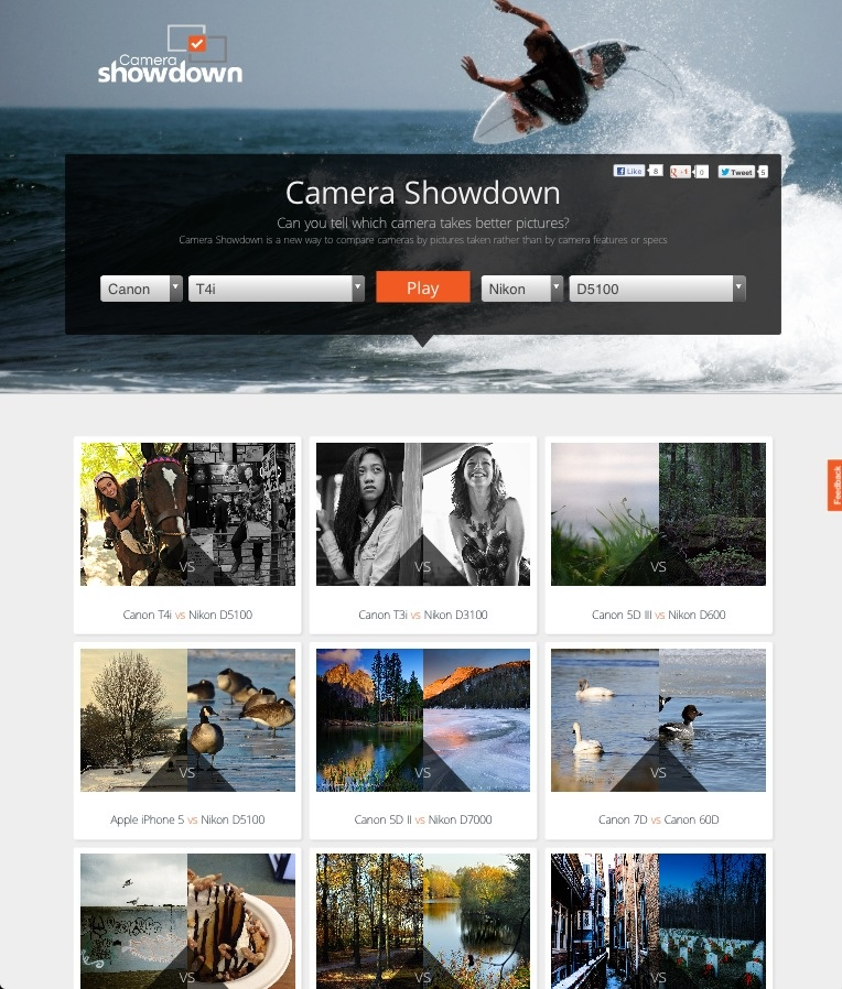 Leading Camera Site Snapsort Launches Camera Showdown  New Website Makes It Easier to Compare Real Life Performance of Popular Cameras