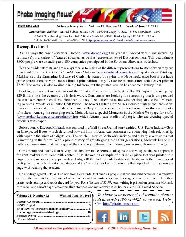 Week of June 16, 2014: Volume 31 Number 12